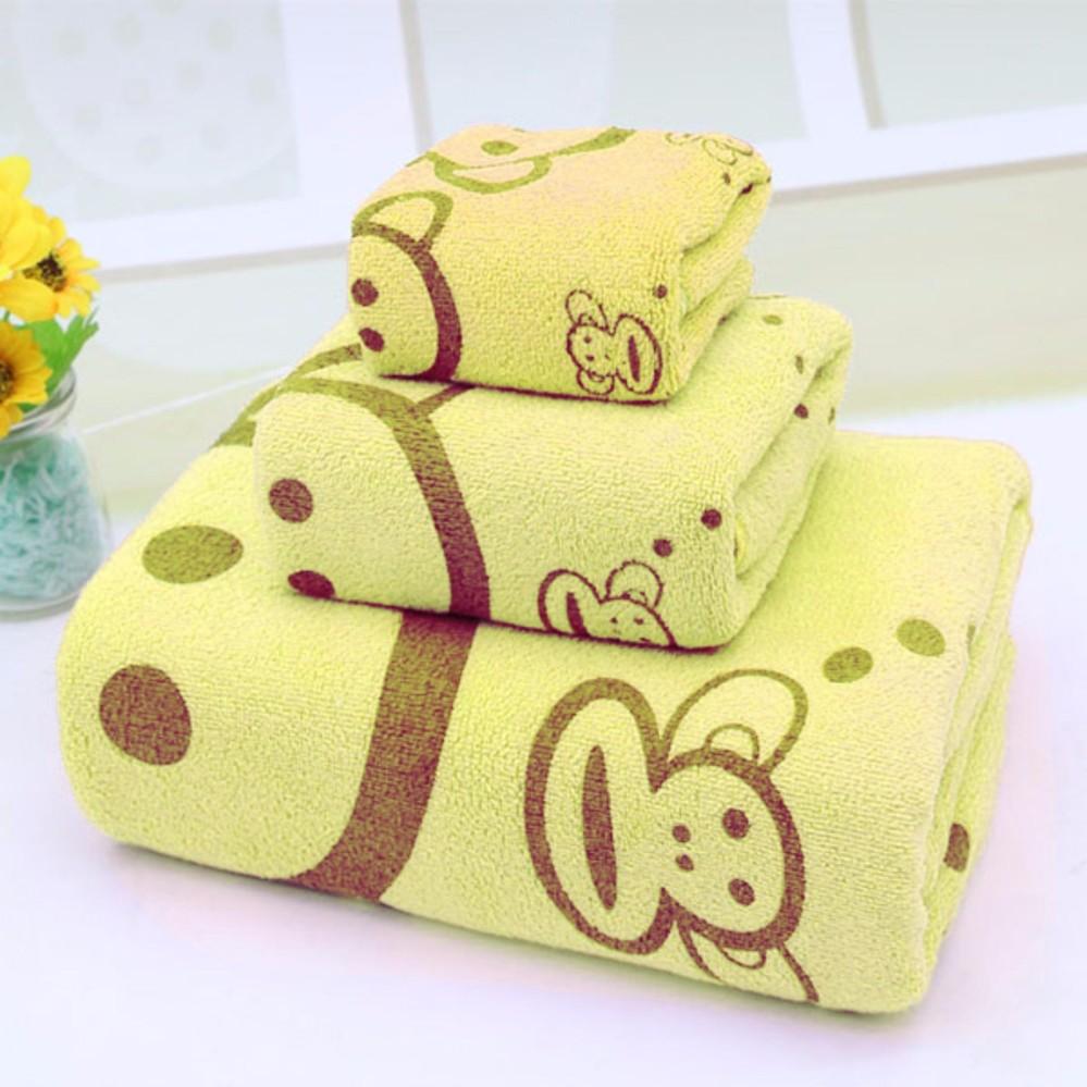 So Sánh Giá Bộ 3 khăn tắm – khăn mặt – khăn lau (Vàng)
