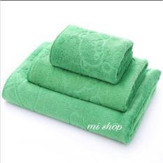 Bộ 3 Khăn Tắm,Gội,Rửa Mặt Thái(Xanh Lá) To 70×140