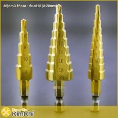 Bộ 3 mũi khoan bước tháp titanium 3-20 mm khoan sắt, tôn, nhôm – Kmart