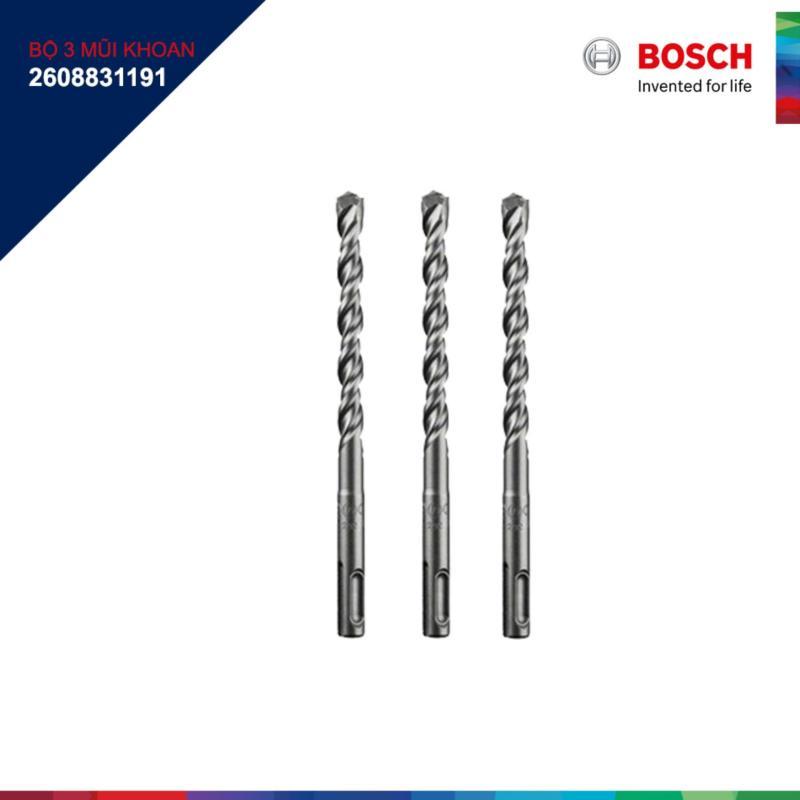 Bộ 3 Mũi khoan gài bê tông Bosch SDS plus 3 12mm (2608831191)