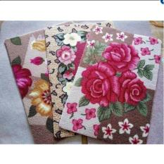 bộ 3 thảm hoa 2d lau chùi chân cao cấp