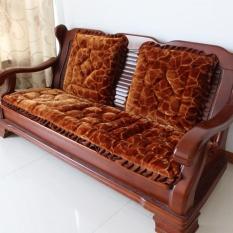 Bộ 3 thảm trải ghế gỗ cao cấp( nâu )