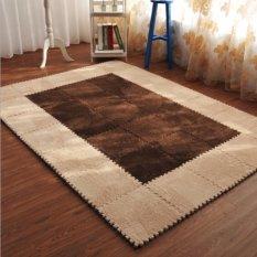 Bộ 30 miếng thảm lông xốp lắp ghép 30x30cm (Nâu be)