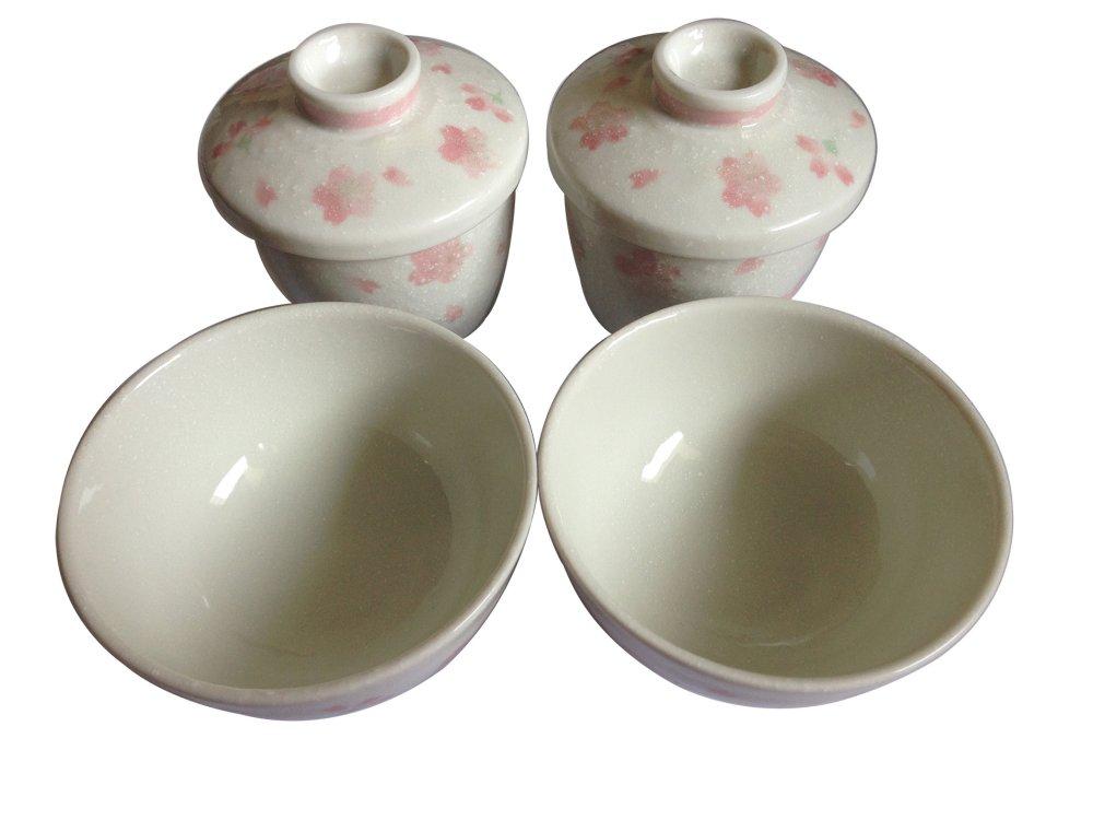 Bộ 4 bát gốm Nhật bản hoa anh đào