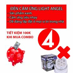 Bộ 4 đèn Light Angel - Đèn cảm ứng hồng ngoại (trắng)
