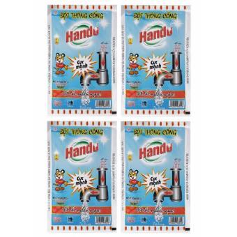 Bộ 4 gói bột thông cống 100g nội địa Hando
