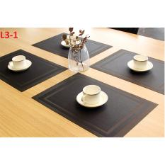 Bộ 4 miếng lót bàn ăn tiêu chuẩn khách sạn L3