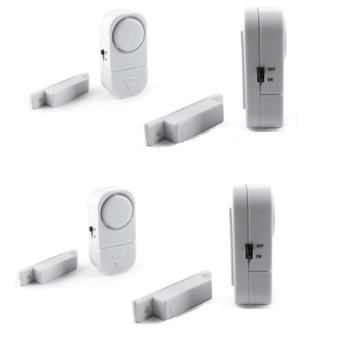Bộ 4 Thiết bị chống trộm cảm biến (trắng)