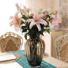 Bộ 5 cành hoa ly trang trí nhà cửa cao cấp(Vàng hoặc Hồng)