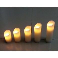 Bộ 5 cây nến điện tử trang trí đèn Led tiết kiệm pin (ngọn lắc lư như nến thật)