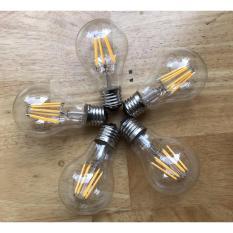 Bộ 5 đèn led giả dây tóc Edision A60 4W ánh sáng vàng