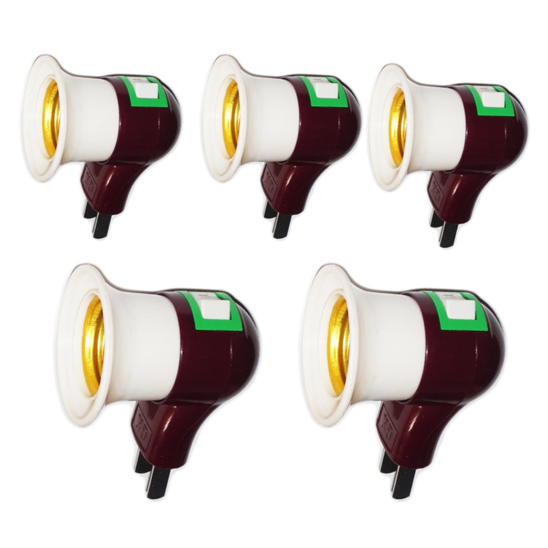 Giá Niêm Yết Bộ 5 đuôi bóng đèn có công tắc (kem)
