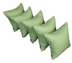 Bộ 5 gối tựa lưng trang trí L'AUBE HANABI 40x40cm (xanh lá)