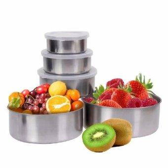 Bộ 5 hộp Inox đựng thực phẩm có nắp để tủ lạnh - 8501181 , OE680HLAA3DOW7VNAMZ-5941304 , 224_OE680HLAA3DOW7VNAMZ-5941304 , 120000 , Bo-5-hop-Inox-dung-thuc-pham-co-nap-de-tu-lanh-224_OE680HLAA3DOW7VNAMZ-5941304 , lazada.vn , Bộ 5 hộp Inox đựng thực phẩm có nắp để tủ lạnh