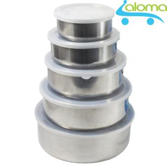 Bộ 5 hộp Inox đựng thực phẩm có nắp để tủ lạnh AL-5HI - 8029212 , AL277HLAA4TSFBVNAMZ-8894601 , 224_AL277HLAA4TSFBVNAMZ-8894601 , 137998 , Bo-5-hop-Inox-dung-thuc-pham-co-nap-de-tu-lanh-AL-5HI-224_AL277HLAA4TSFBVNAMZ-8894601 , lazada.vn , Bộ 5 hộp Inox đựng thực phẩm có nắp để tủ lạnh AL-5HI