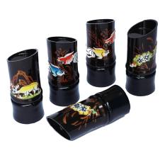 Bộ 5 hũ tăm ống tre sơn mài Rico 0044
