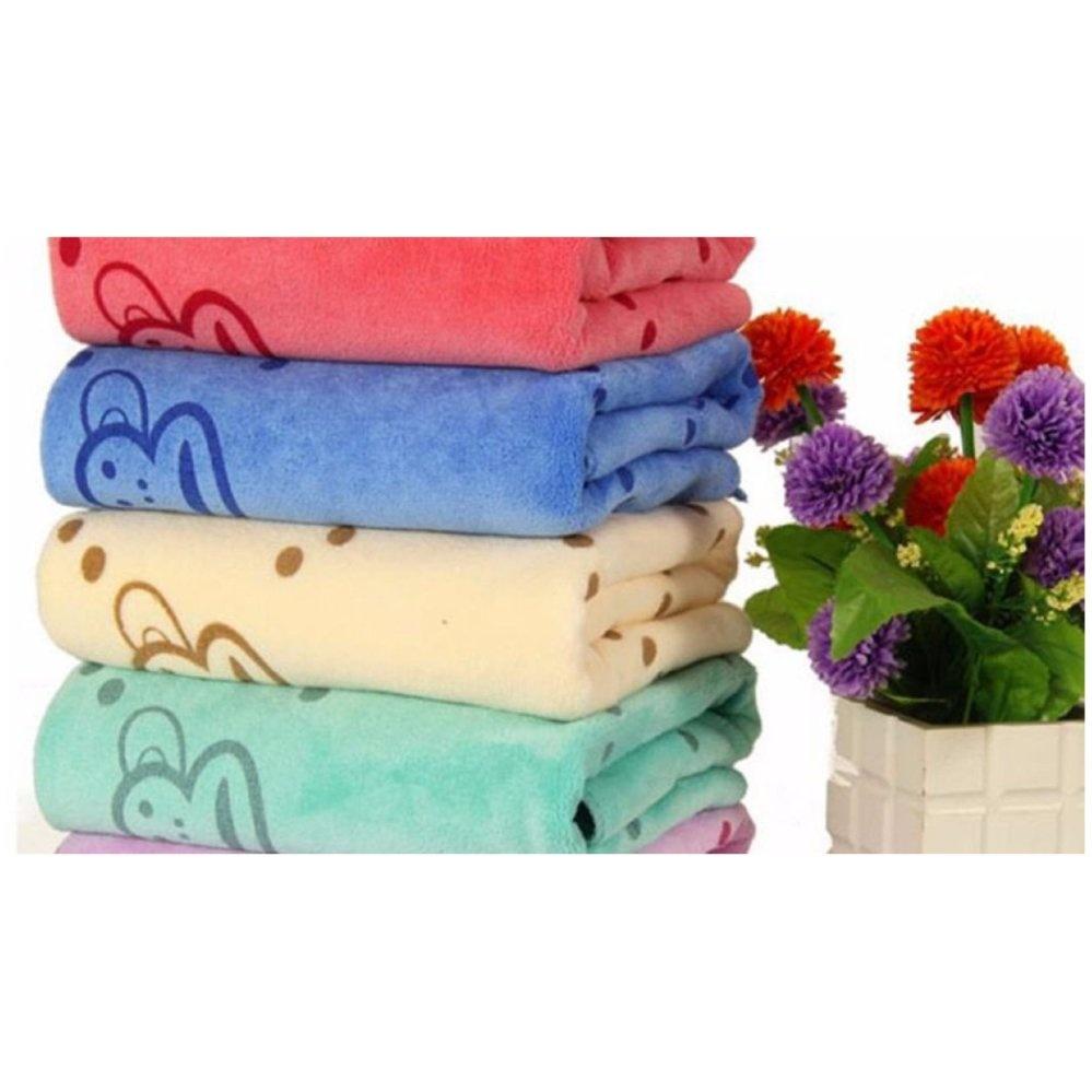Bộ 5 khăn mặt Thái Lan cao cấp siêu mềm mịn cho mẹ và bé (KIBA) (Xanh dương nhạt)