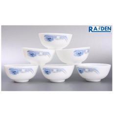 Bộ 6 chén, 10 chén ăn cơm opal sứ Cao cấp (giao hoa văn ngẫu nhiên )