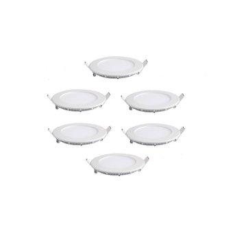 Bộ 6 đèn led âm trần siêu mỏng 6w tròn trắng