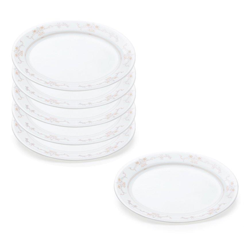 Bộ 6 đĩa thủy tinh oval Corelle 6950-IM-LP