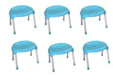 Bộ 6 ghế mặt nguyệt chân inox