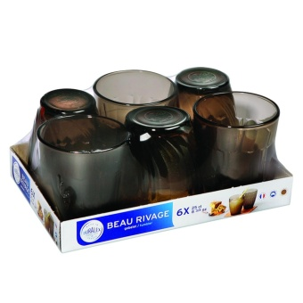 Bộ 6 Ly thuỷ tinh Beaurivage Creole Tumble DURALEX250ml-1008CR06A0111