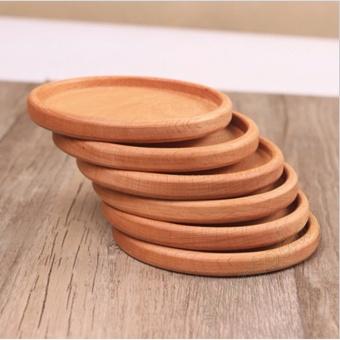 Bộ 6 miếng lót cốc chén, khay đựng hoa quả,đựng bánh kẹo bằng gỗ tự nhiên cao cấp