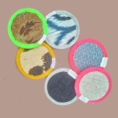 Bộ 6 miếng lót ly bằng vải hình tròn (sku 103)
