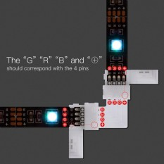 Bộ 8 đầu nối led dây 5m 5050RGB + 4 mạch chữ L RGB