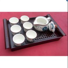 Bộ tách trà sang trọng kiểu Nhật (Màu xanh dương)