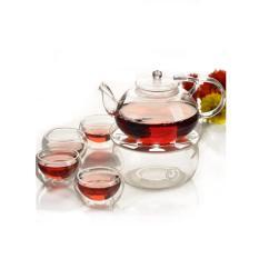 Bộ ấm chén pha trà thủy tinh – 44