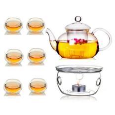 Bộ ấm pha trà thủy tinh số 07