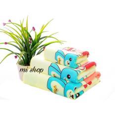 Nơi Bán Bộ ba khăn Thái hình gấu (màu vàng)-Mi shop
