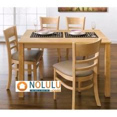 Bộ bàn ăn CABIN 4 ghế (vàng)
