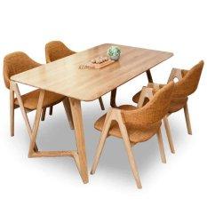 Bộ bàn ăn cao cấp Klosso phong cách Châu Âu KBA017 ( Màu tự nhiên )(Be)