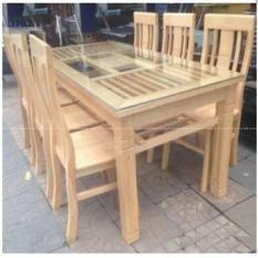 Bộ bàn ăn gỗ sồi Nga cao cấp