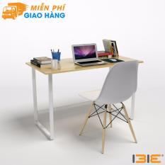 Bộ bàn Rec-F chân trắng mặt tự nhiên và ghế Eames trắng chân gỗ