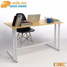 Bộ bàn Rec-U chân trắng mặt tự nhiên và ghế Eames đen chân gỗ