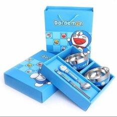 Bộ bát đũa Doraemon (XANH)
