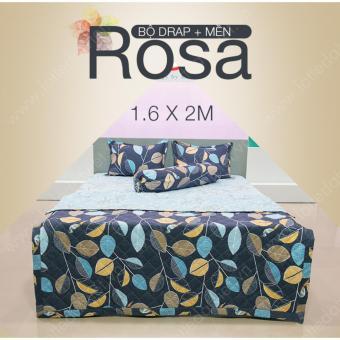 Bộ chăn ga gối đệm lá thu Rosa 2 mặt (1m6x2m)