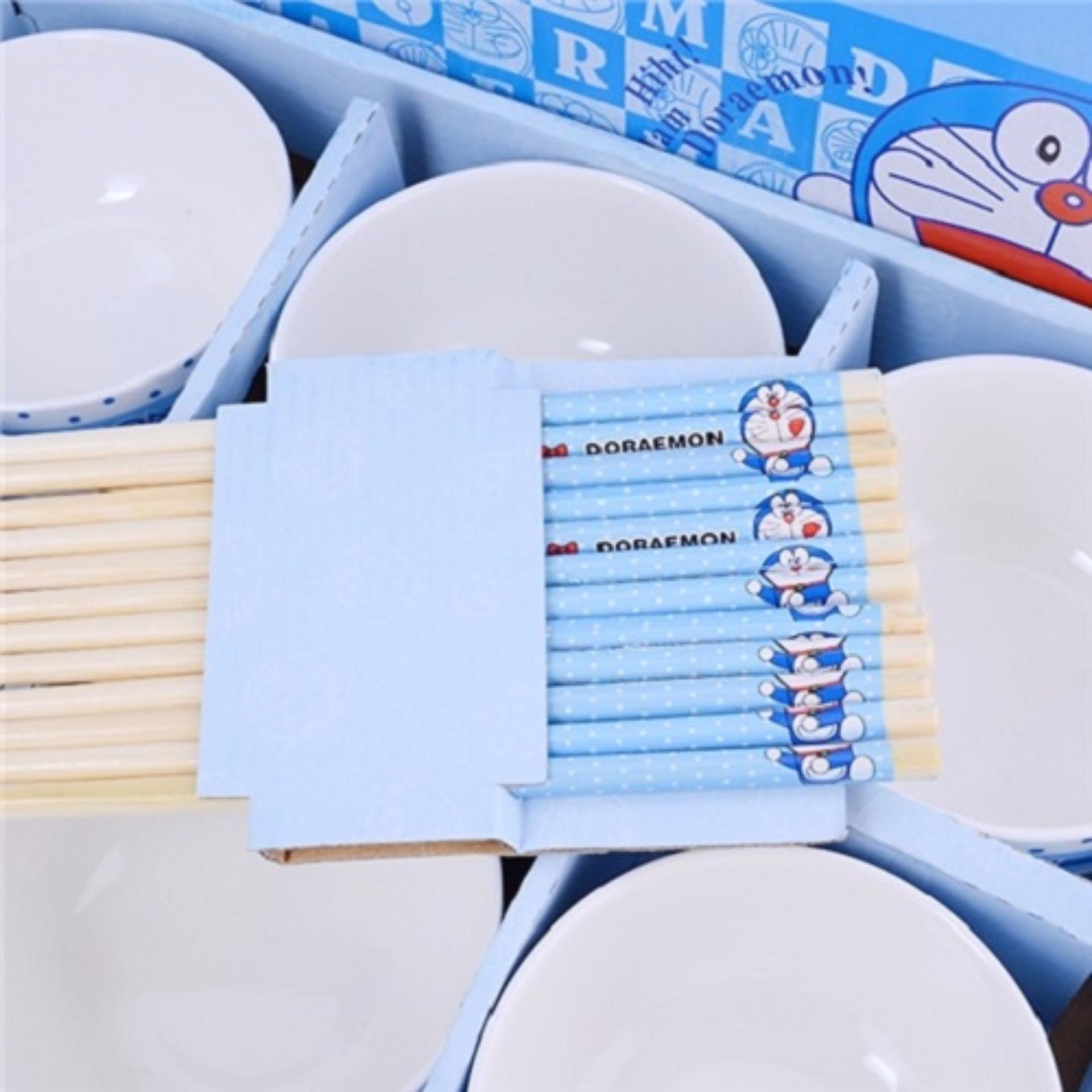 Bộ chén đũa Hello Kitty Doraemon (Hồng)