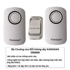 Bộ Chuông cửa ĐÔI không dây có nút nhấn kín nước KAWASAN DB668B