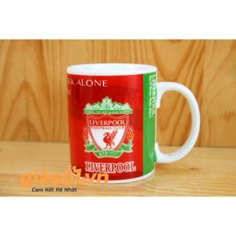 Bộ cốc uống nước + nắp hình câu lạc bộ bóng đá Liverpool - 350ml Bát Tràng