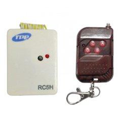 Bộ công tắc điều khiển từ xa cho máng đèn sóng RF TPE RC5H + Remote RF vỏ vân gỗ R1VG315