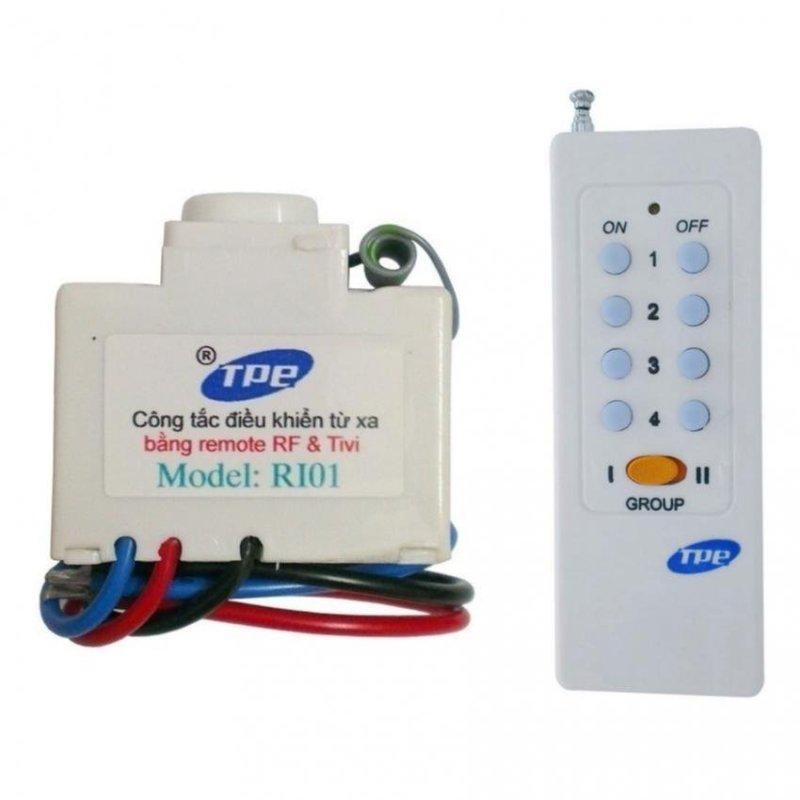 Bảng giá Mua Bộ công tắc điều khiển từ xa IR + RF TPE RI01 + Remote 16 nút RM01