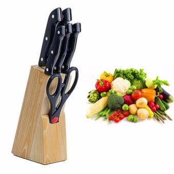 Bộ dao kéo nhà bếp 7 món thép không rỉ