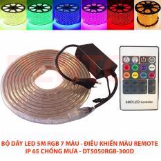 Bộ Dây LED RGB điều khiển màu Chống mưa 5 mét 300 bóng trang trí