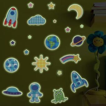 Bộ decal dán tường dạ quang cho bé- Thám hiểm vũ trụ