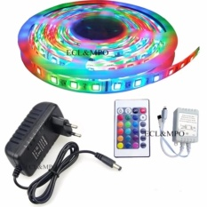 Bộ đèn led 5m 3528RGB trang trí máy tính + Nguồn + Remote