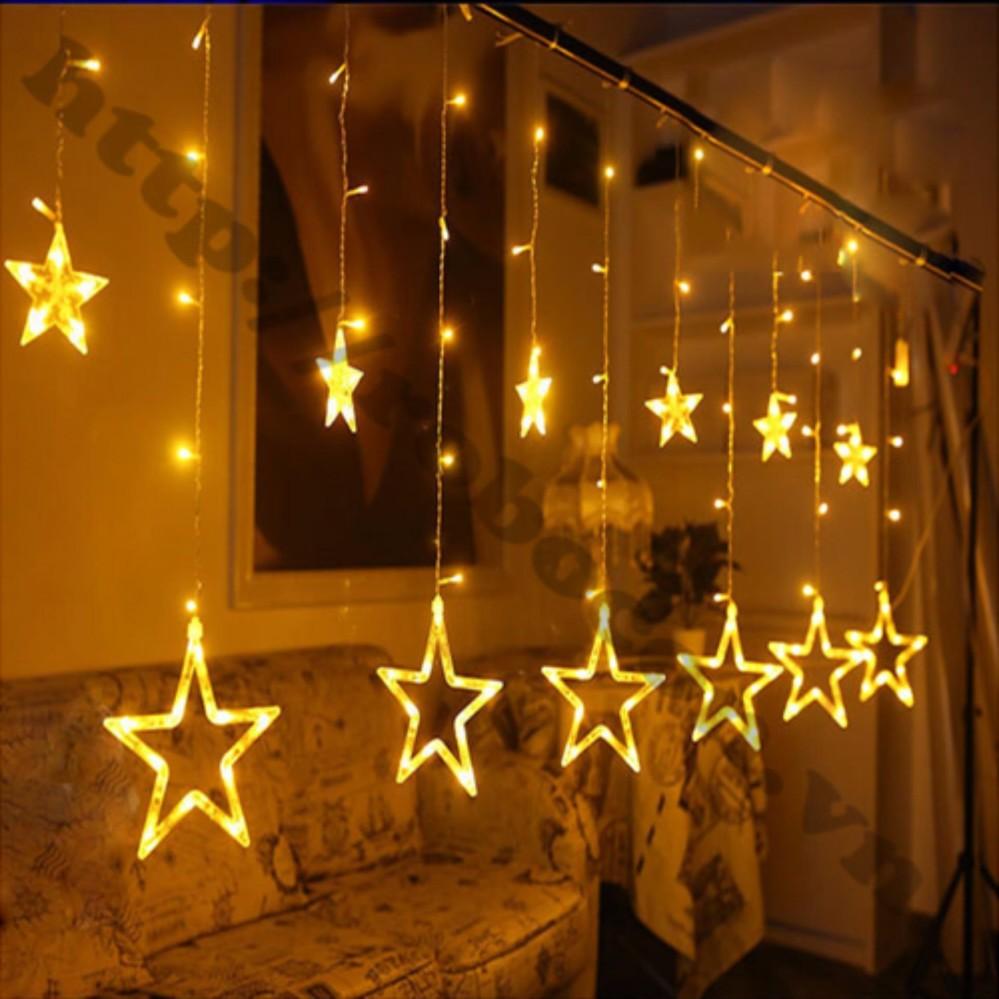 Bộ đèn thả rèm 12 ngôi sao